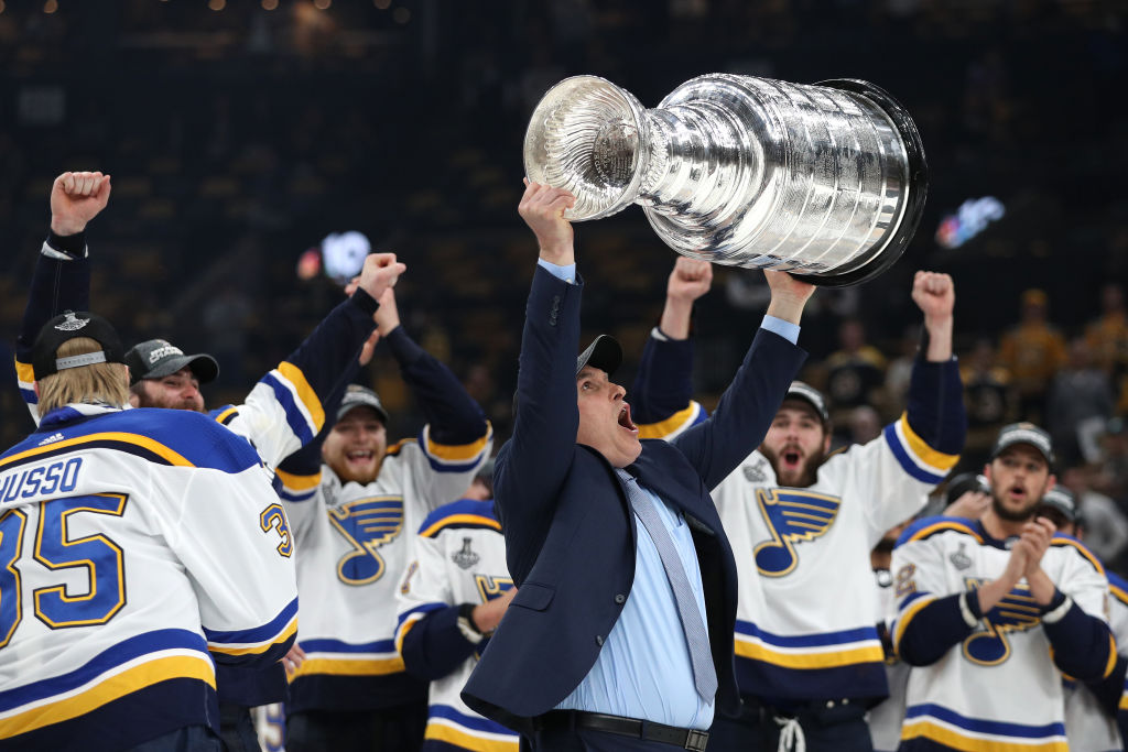 After winning the Stanley Cup, St. Louis coach Craig Berube is certain to have his interim tag removed. (Getty Images)