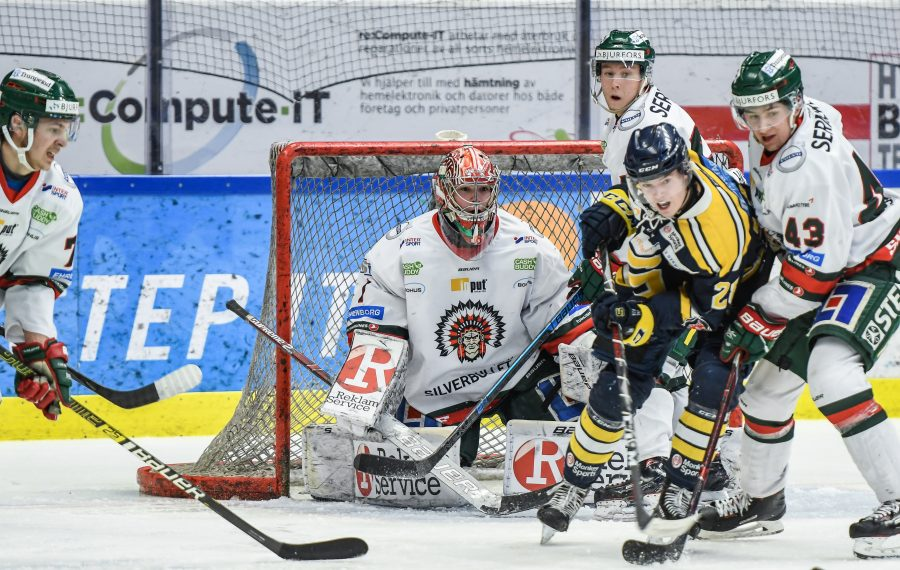 Erik Portillo, a 6-foot-6 goalie for the junior program of Swedish Elite League's Frolunda, was drafted in the fourth round by the Sabres. (Photo by Christian Wahlgren/Pucksnack.com)