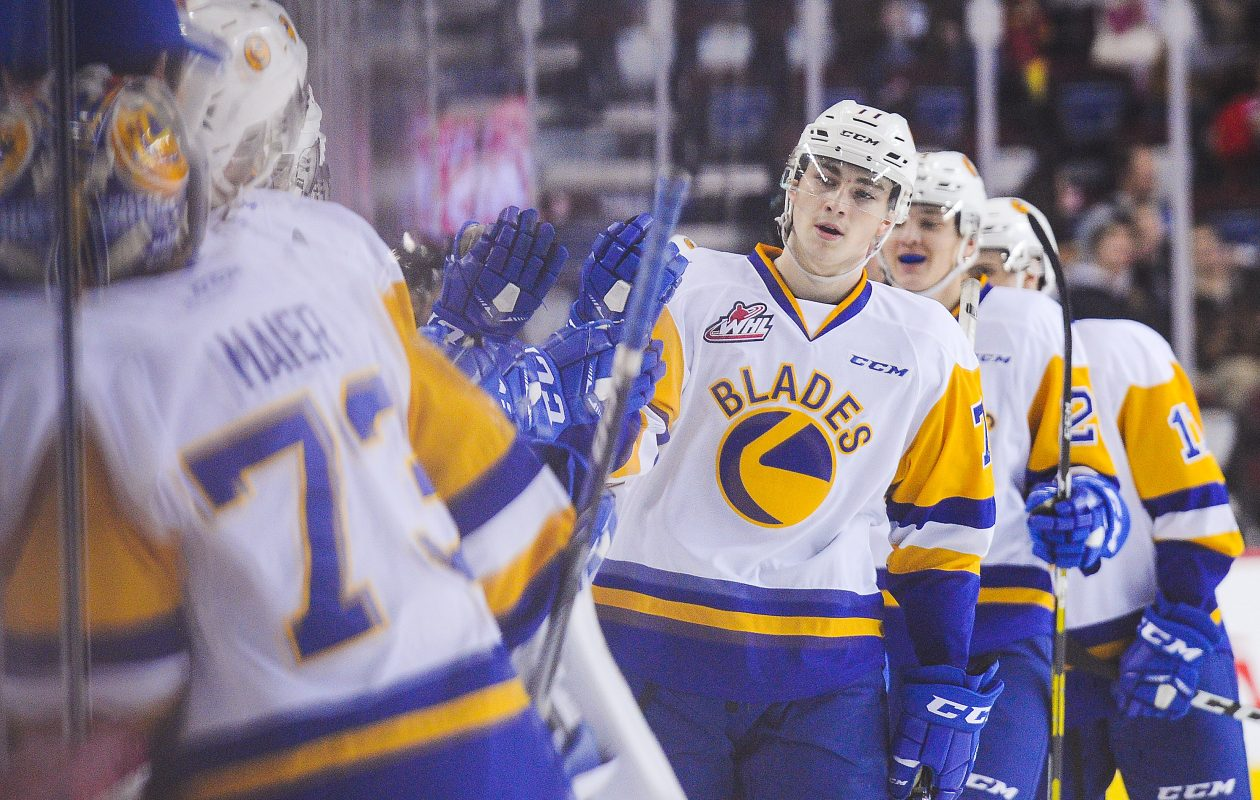 Kirby Dach is a popular choice to land with the Sabres in mock drafts. (Getty Images)