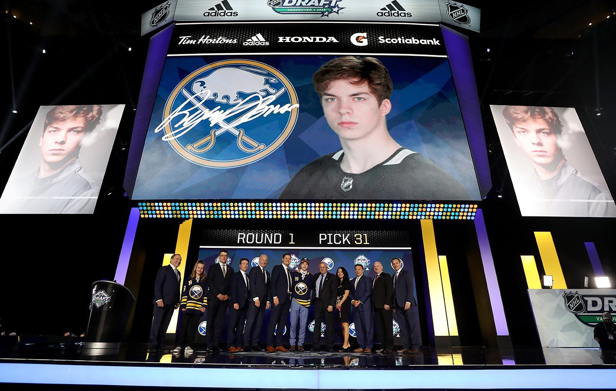 Ryan Johnson is selected thirty-first overall by the Sabres. (Bruce Bennett/Getty Images)