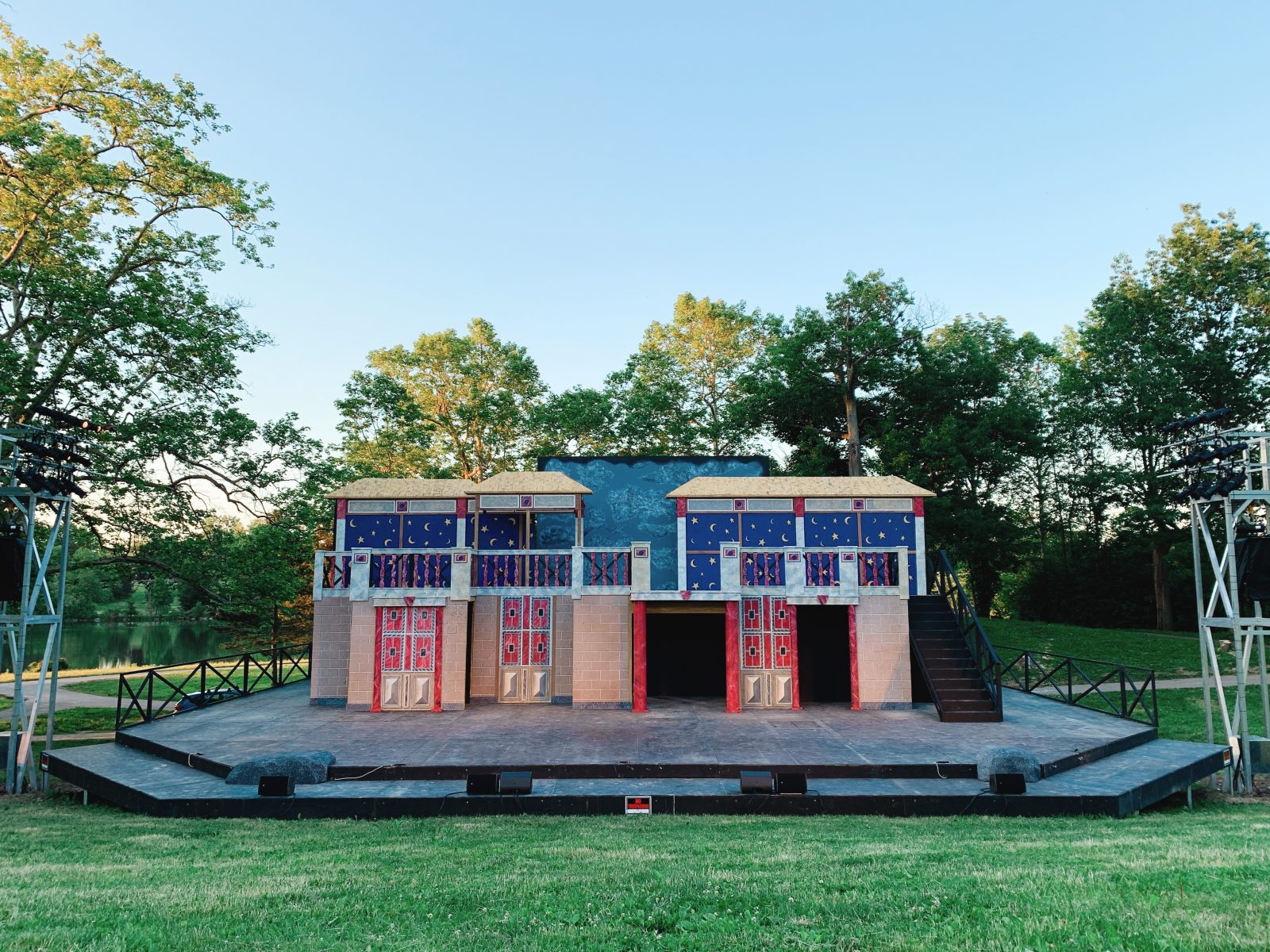 The set for 'The Tempest' at Shakespeare in Delaware Park. (Francesca Bond/Buffalo News)