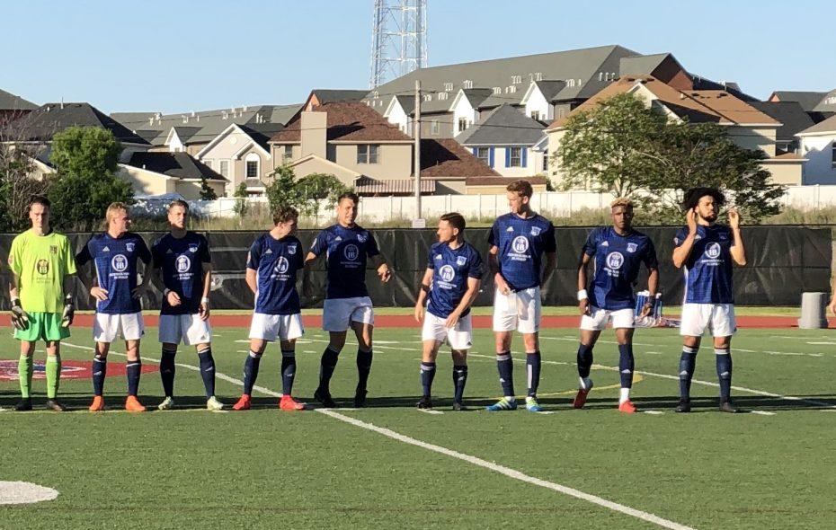 FC Buffalo, wearing their 10th anniversary kits, knocked off Erie, 2-0, at home. (Ben Tsujimoto/Buffalo News)