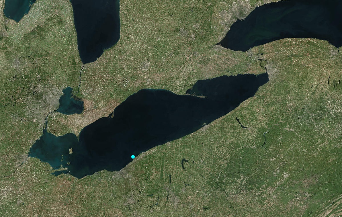 The 4.0 magnitude earthquake was reported just before 11 a.m. today off shore of Eastlake, Ohio. (U.S. Geological Survey)
