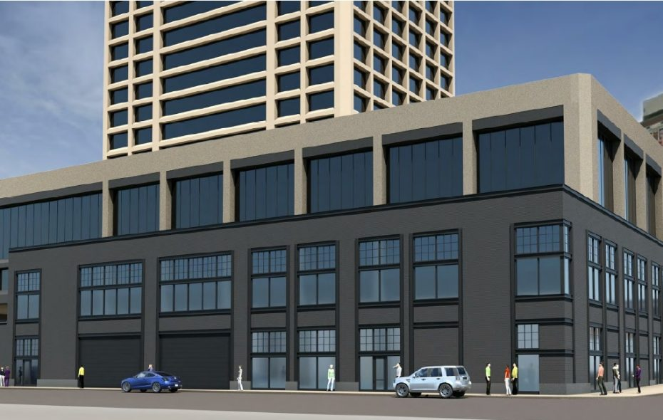 Rendering of the latest proposed changes to One Seneca Tower. (Image courtesy of the Buffalo Planning Board)