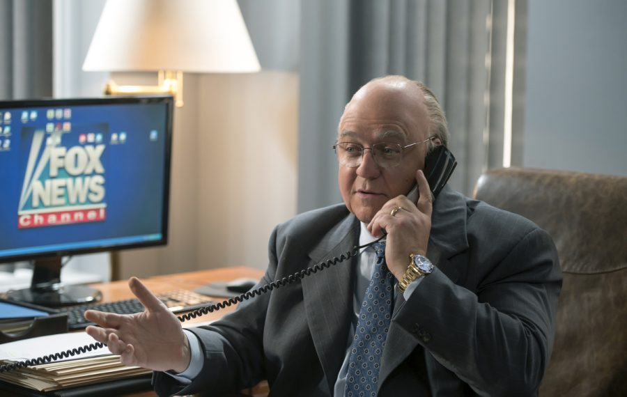 "Russell Crowe as Roger Ailes in ""The Loudest Voice."" (JoJo Whilden/SHOWTIME)"