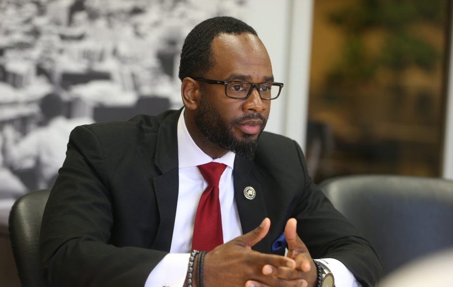Masten Council Member Ulysees O. Wingo is barred from Buffalo Public Schools property after taking a gun into Riverside High School. (John Hickey/Buffalo News)