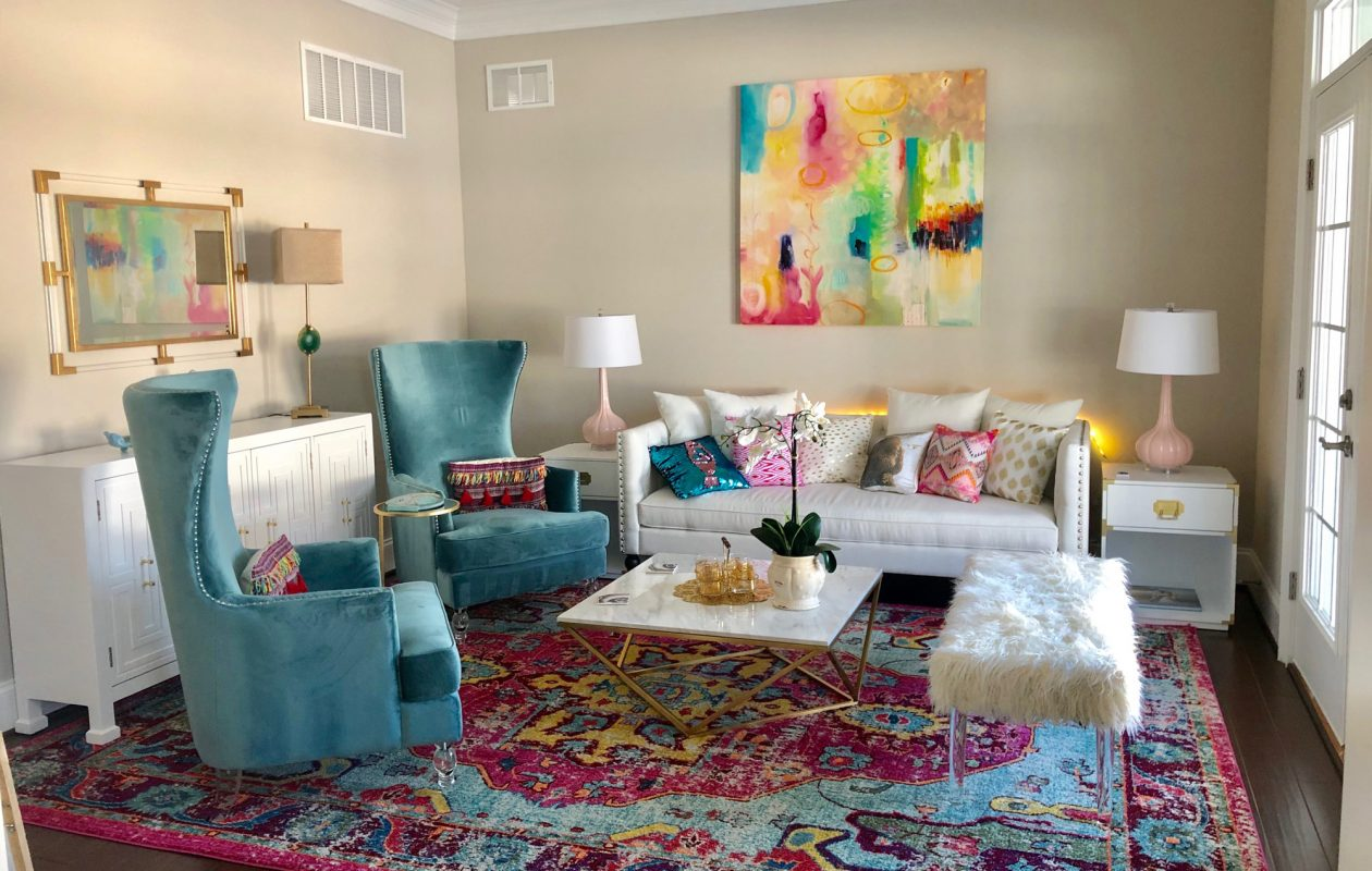 A living room redo through Wayfair Design Services. (Courtesy Wayfair)