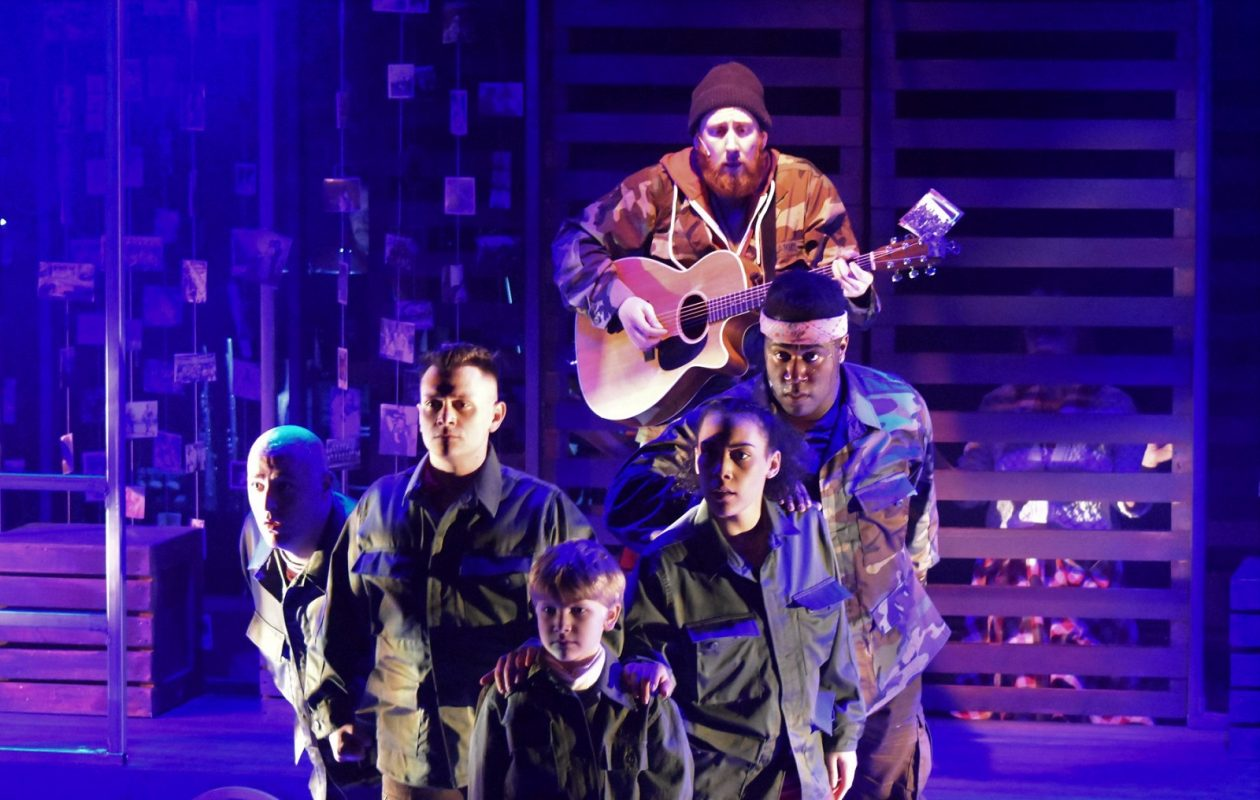 Zak Ward (center rear) with cast-members of MusicalFare's 'Late in the Evening: The World According to Paul Simon.' (Photo courtesy Michael Walline)