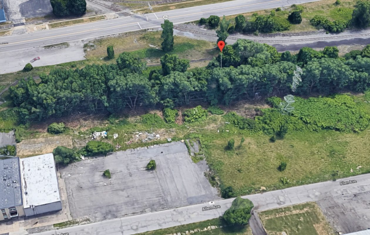 Michael Ciskiewic was found hiding in a wooded area near 24th Street and Allen Avenue, just north of Buffalo Avenue. (Google Maps)