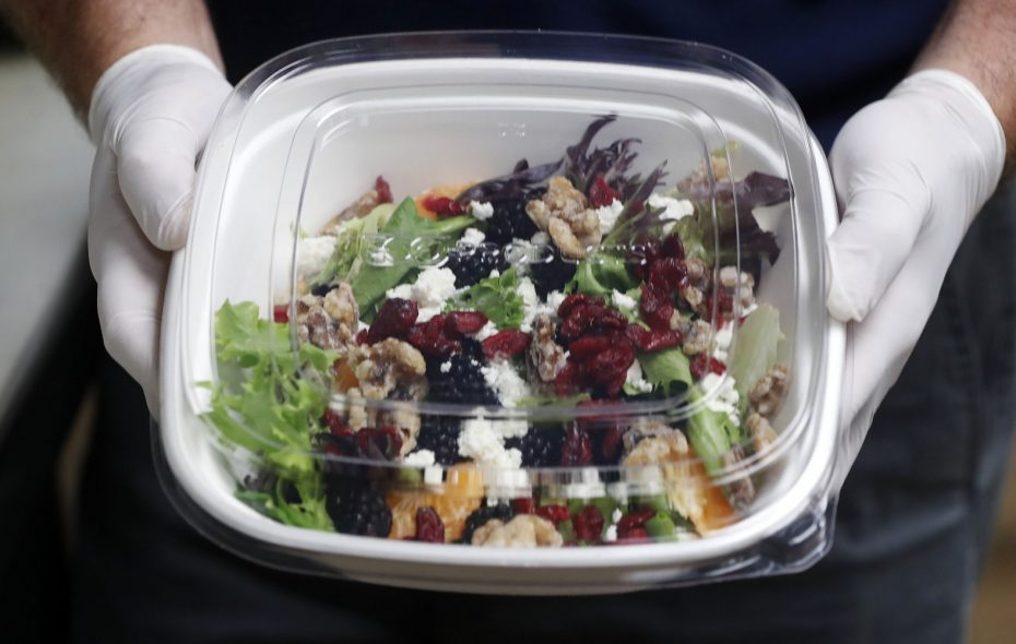 J.P. Fitzgerald's in Hamburg uses food containers from Eco-Products. (Mark Mulville/Buffalo News)