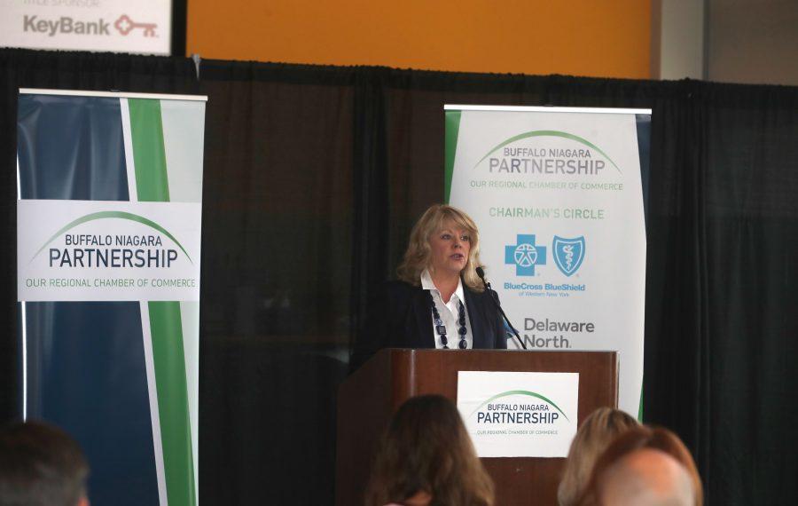 Buffalo Niagara Partnership president and CEO says workforce tops members' concerns. (John Hickey/Buffalo News)