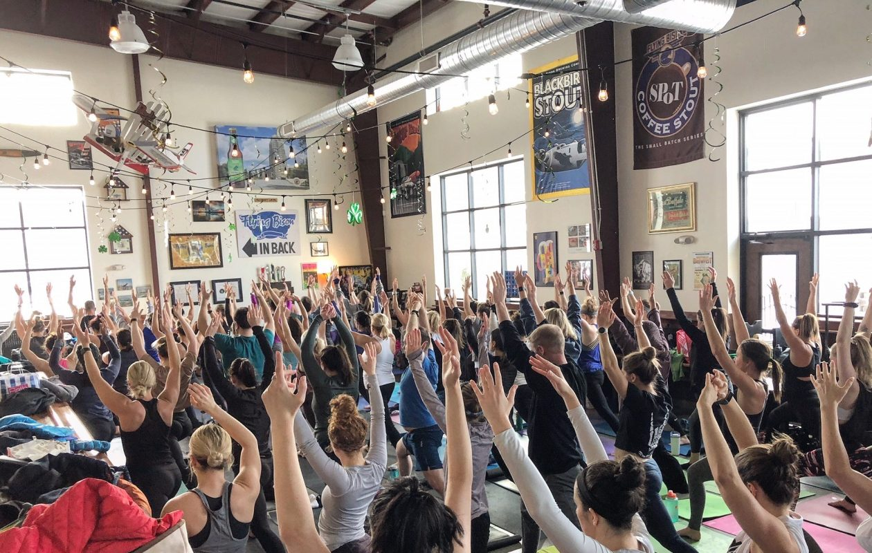 Flying Bison offers monthly charity yoga classes starting June 17