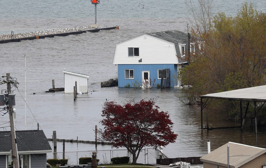 High water levels on Lake Ontario caused damage along the shoreline in Niagara County and flooded properties in Olcott Harbor on May 12, 2017. (John Hickey/News file photo)