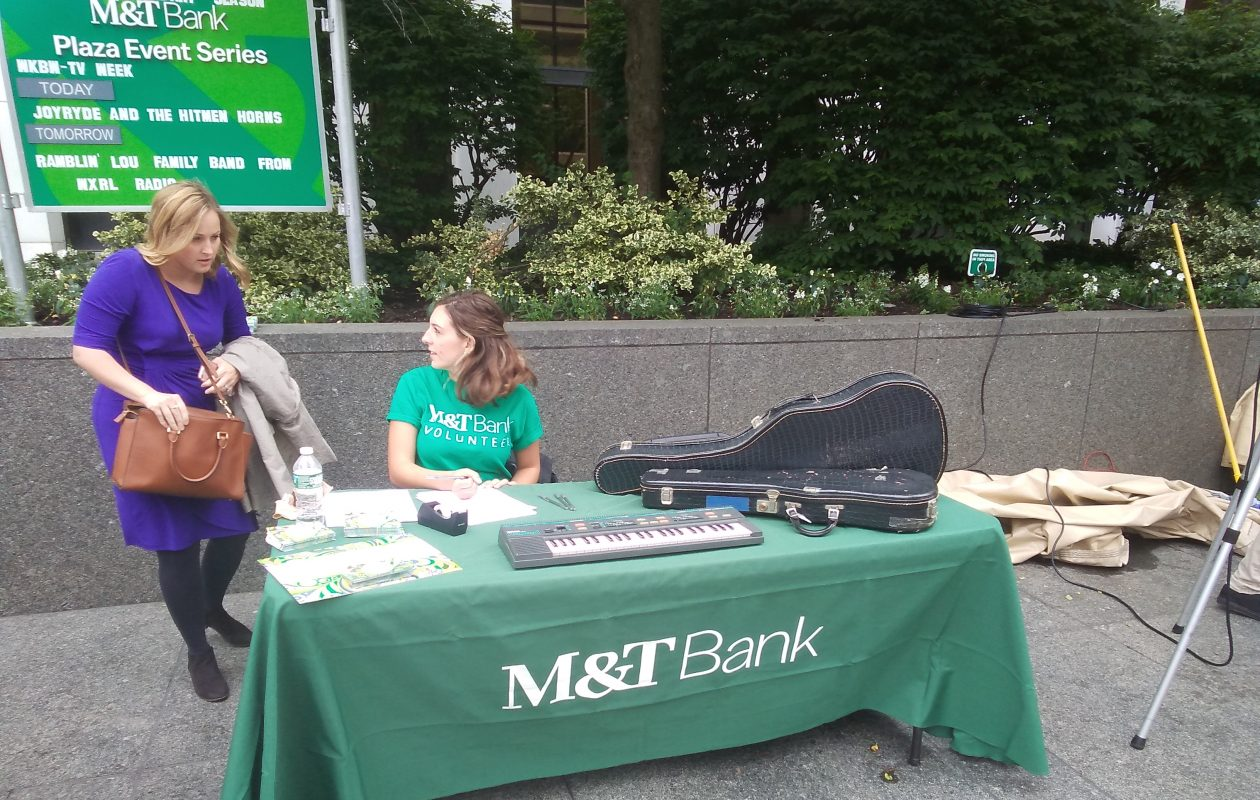 M&T Bank will provide donated used instruments to Buffalo Public Schools. (Matt Glynn/Buffalo News)
