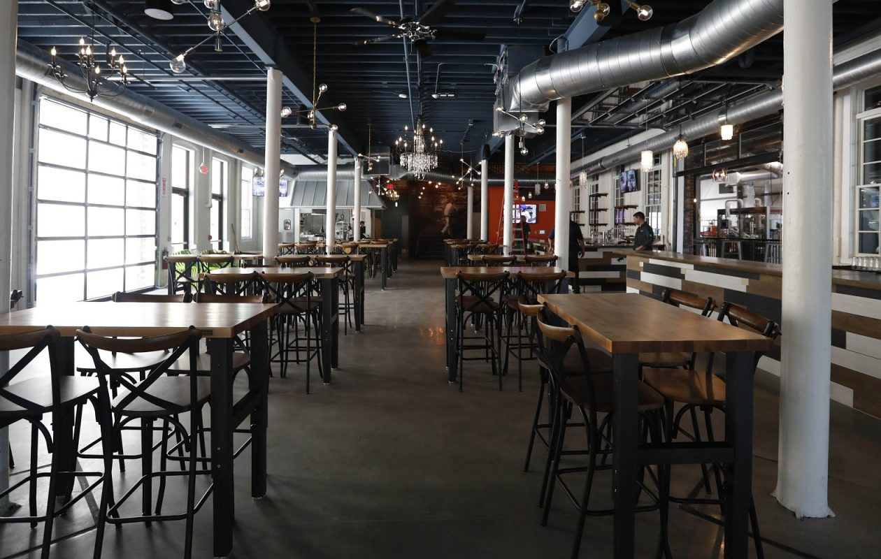 The taproom at Resurgence's new brewery on Chicago Street will seat up to 100. (Sharon Cantillon/Buffalo News)