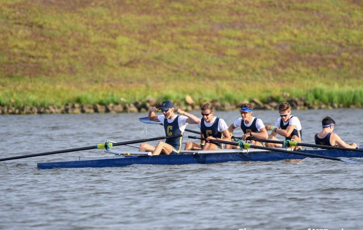 Canisius rowers celebrate at the end of the race (U.S. Rowing photo)