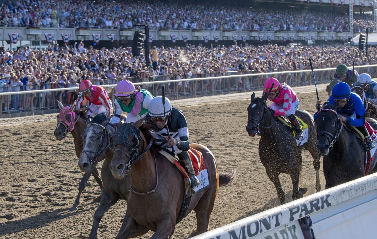 Sir Winston holds off Tacitus to win Belmont Stakes 151. Photo Credit: Chelsea Durand/NYRA