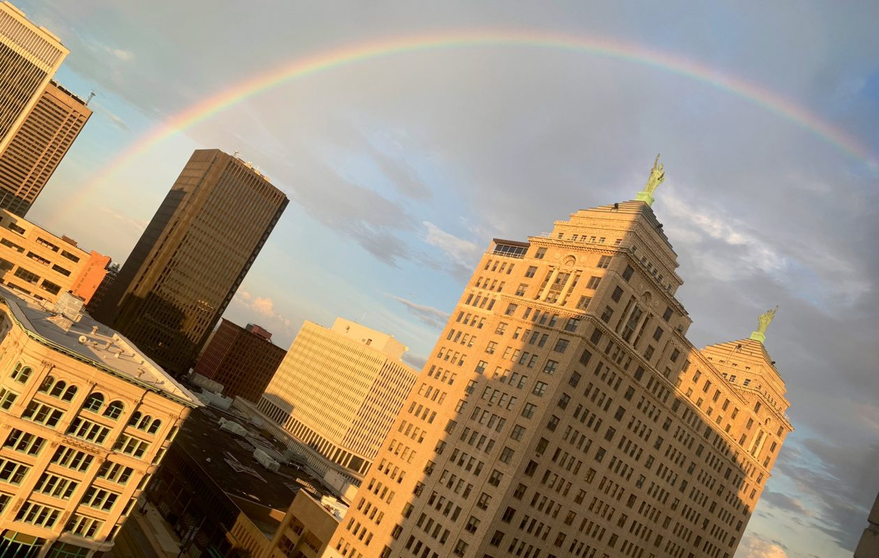 Western New York wakes up to rainbows Wednesday