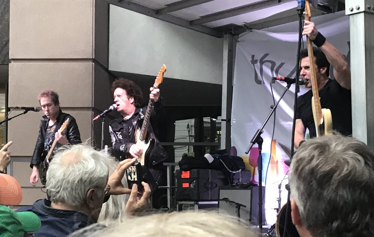 Willie Nile and band performing as part of the Thursday & Main concert series at Fountain Plaza. (Photo courtesy of Kim Miers)