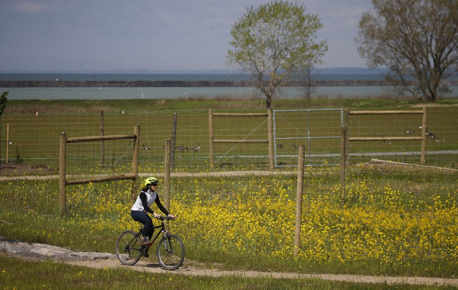 Don't let summer pass you by without a ride along the new Lakeside Bike Park at the Outer Harbor. (Derek Gee/Buffalo News)