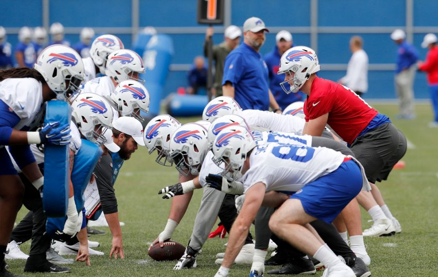 The offensive line will be a position to watch at Bills training camp. (Mark Mulvile/News file photo)