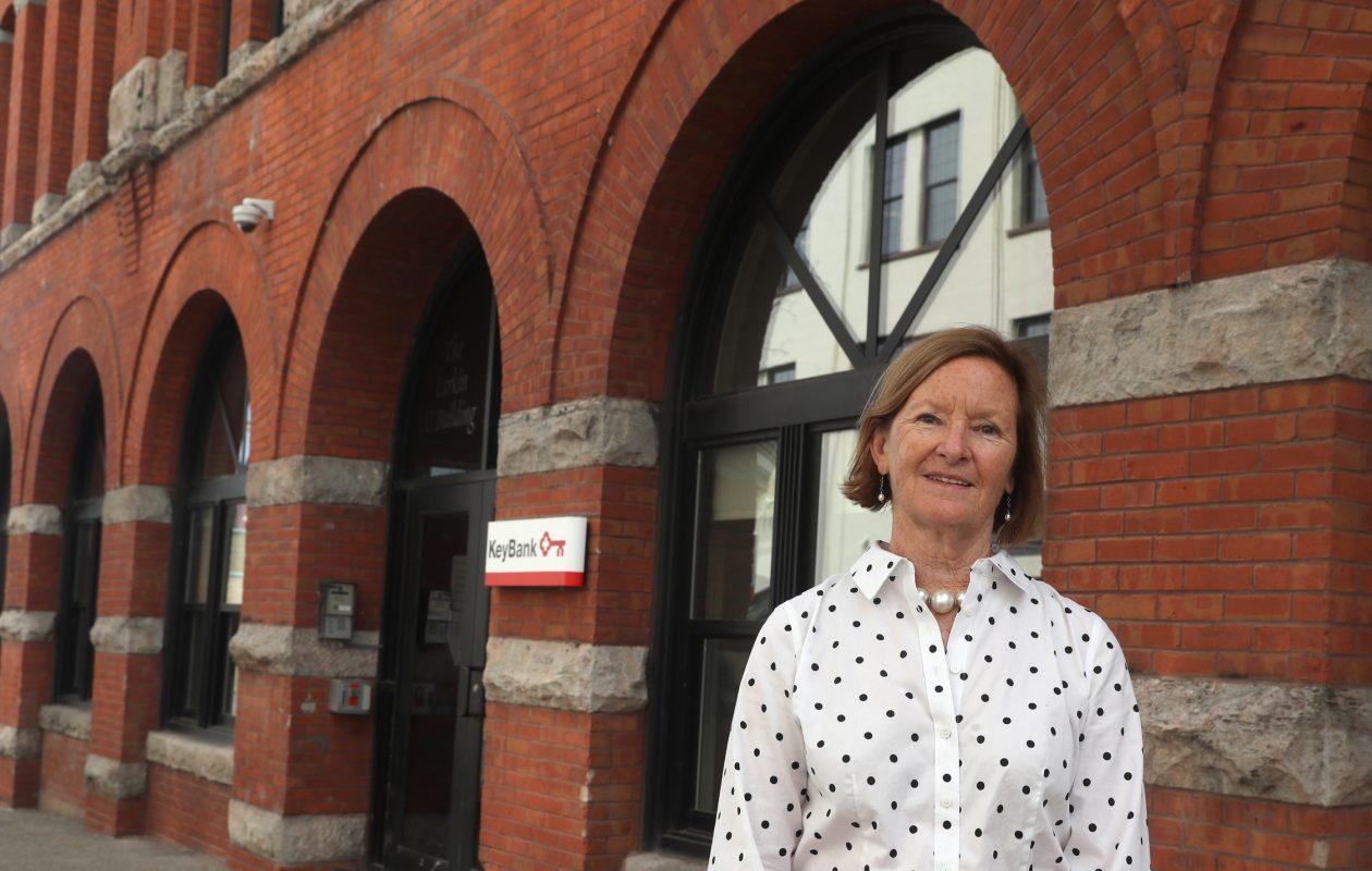 Elizabeth Gurney, executive director of the First Niagara Foundation, has added duties as head of the KeyBank Foundation. (John Hickey/Buffalo News)