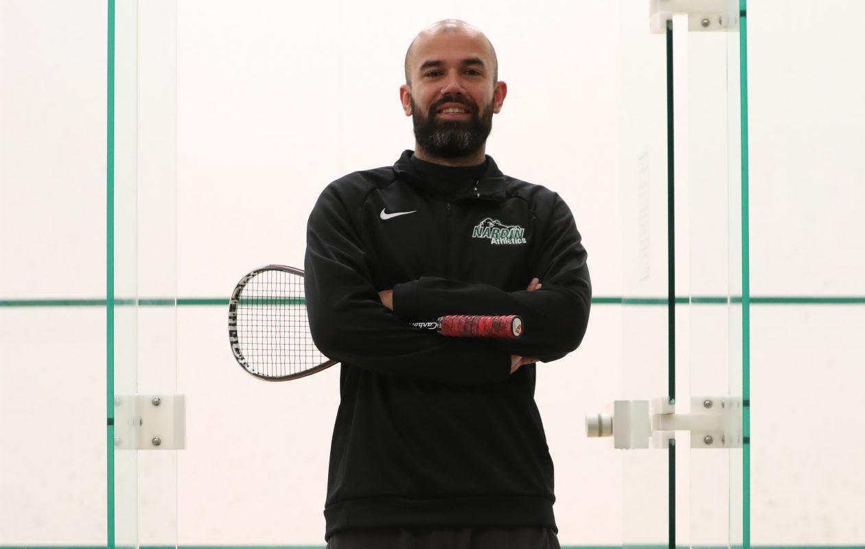 Asad Khan is the new head squash pro at Nardin Academy Athletic Center. (James P. McCoy/Buffalo News)