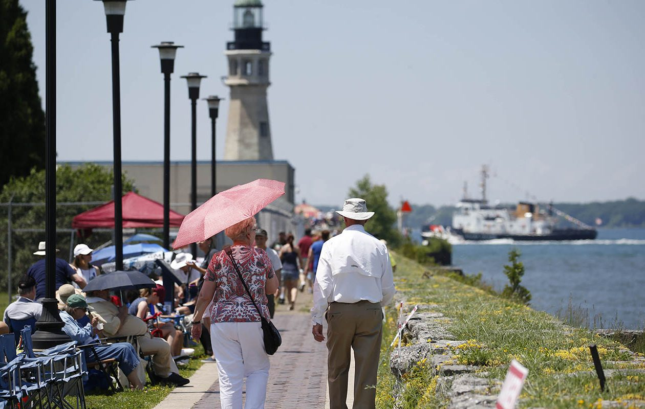 Canalside on July 4. (Sharon Cantillon/Buffalo News)
