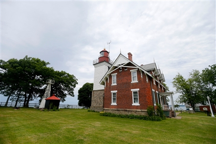 The history of the Dunkirk Lighthouse goes back to 1827, when the first version of it was built on Point Gratiot. The structure that replaced it in the 1870s incorporates bricks from the original lighthouse. In 1857, it was fitted with a Fresnel lens that shines light 27 miles out into Lake Erie. The structure was named to the National Register of Historic Places in 1979 as the Point Gratiot Lighthouse Complex.