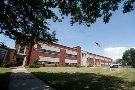 The former Philip Sheridan Elementary School will be turned into senior housing, including a theater space and community room. Senior apartments will be built on former athletic fields behind the school building.