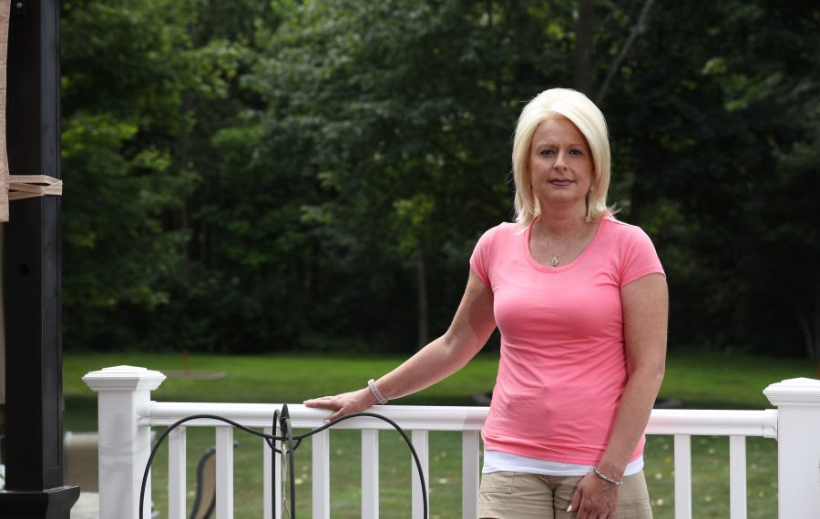 Jennifer Czarnecki is fighting a rare form of breast cancer that she believes stems from her weeks of service in New York City after the 9/11 terrorist attacks. (John Hickey/Buffalo News)