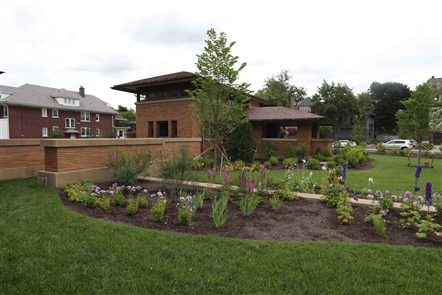 Restoration of the landscaping is complete at the Darwin Martin complex.