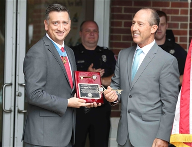 The City of Batavia presented the key to the city to one of its distinguished residents, Army Staff Sgt. David Bellavia on Tuesday, July 23, 2019.