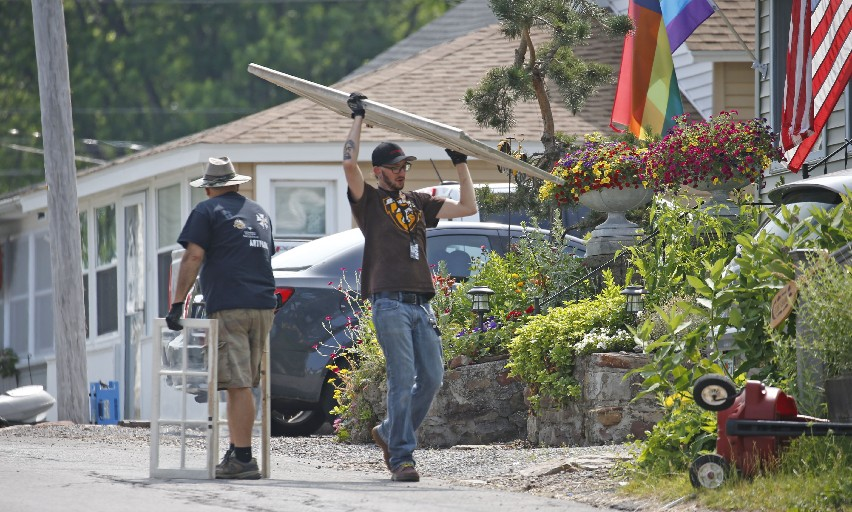"Crews filming ""A Quiet Place 2"" were welcomed in Olcott, above,  but were met with greed in Orchard Park. (Robert Kirkham/Buffalo News)"