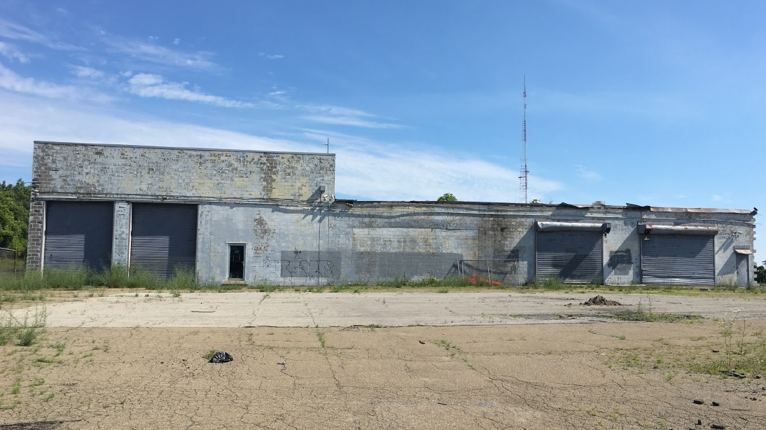 This former warehouse at 800 Hertel Avenue is slated for renovation and expansion into a one-story medical office facility. (Courtesy of Uniland Development Co.)