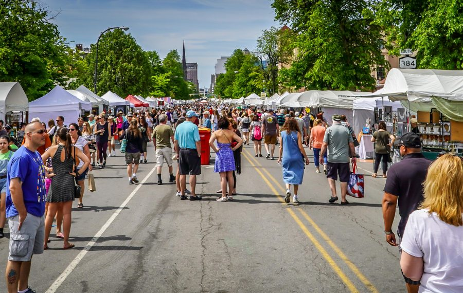On the second weekend each June, blocks of Allentown are transformed into an expansive lineup of outdoor galleries, plus live music and food, for its annual art festival. (Alicia Wittman)