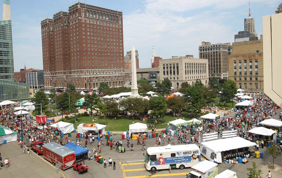 The Taste of Buffalo draws legions of food lovers to stands on Niagara Square each summer. (Sharon Cantillon/News file photo)
