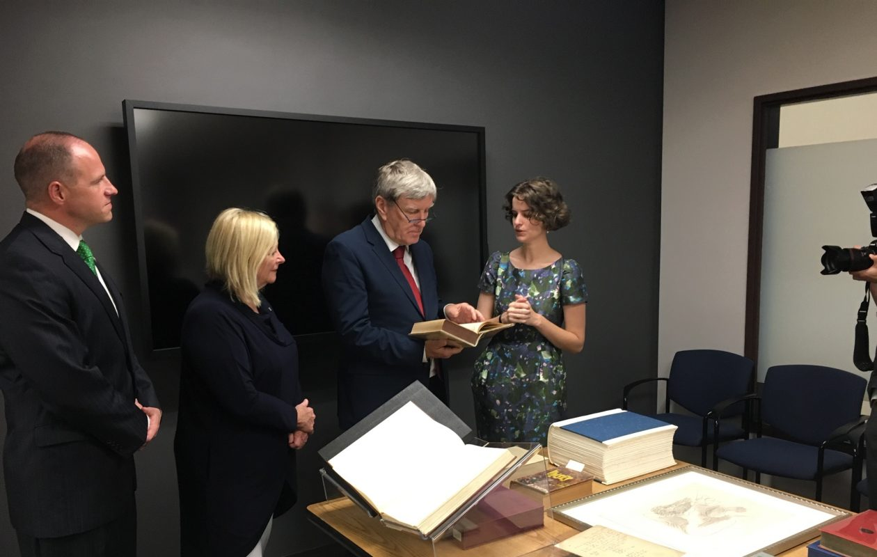 Irish envoy tours UB's Joyce Collection – just check Twitter
