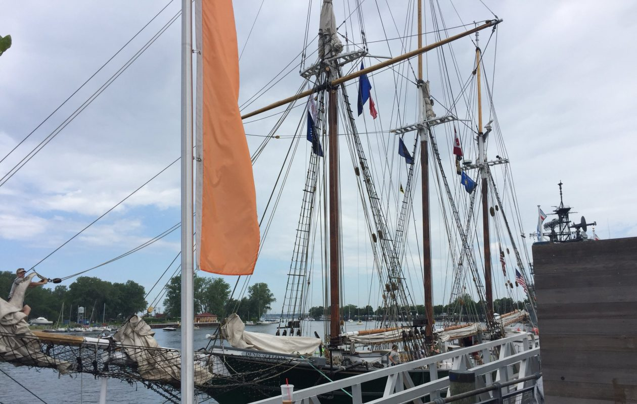 Tall ships arriving in Buffalo, along with first spectators