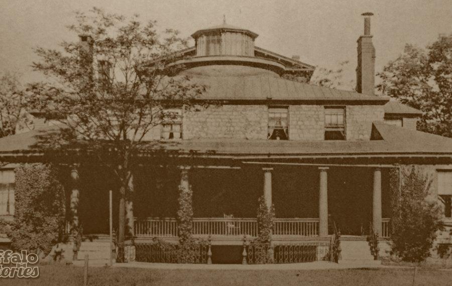 """The Delaware Avenue """"cottage"""" of Buffalo's first mayor, Ebenezer Johnson."""