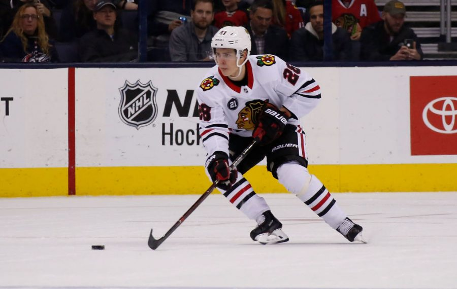 Defenseman Henri Jokiharju was a first-round draft pick of the Chicago Blackhawks in 2017. (Getty Images)