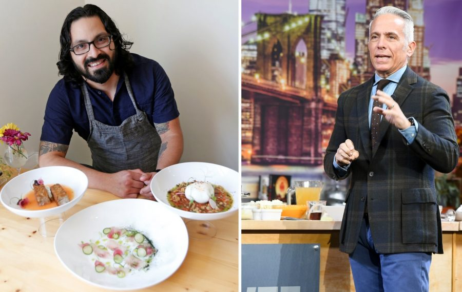 Las Puertas chef-owner Victor Parra Gonzalez, left, will have his food featured on the Cooking Channel with Iron Chef Geoffrey Zakarian. (Robert Kirkham/News file photo; Getty Images)