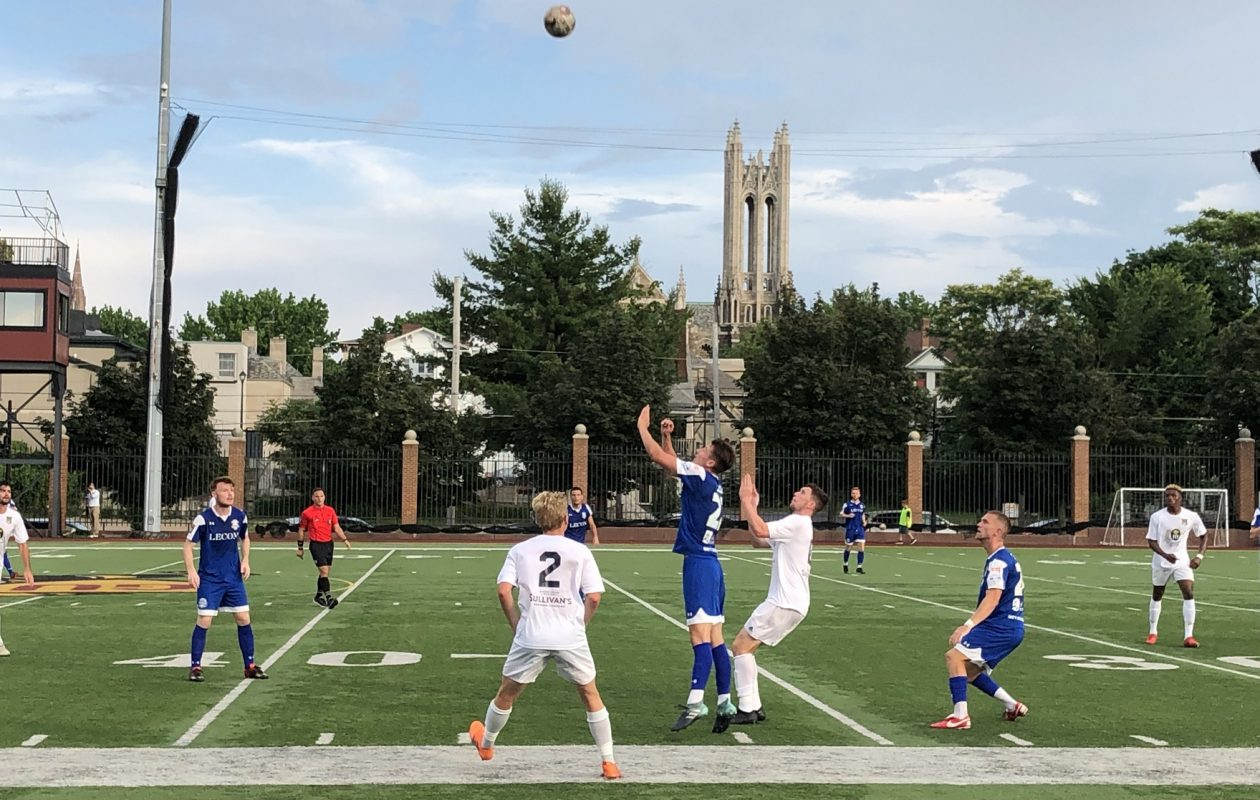 FC Buffalo and the Erie Commodores played to a 2-2 draw on Friday. (Ben Tsujimoto/Buffalo News)