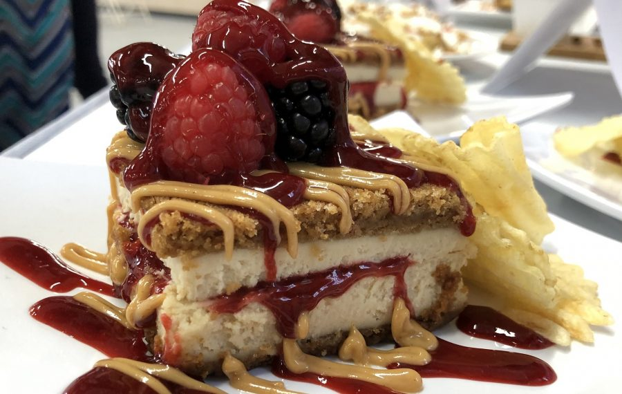 Not Your Mother's PB&J Cheesecake from the Cheesecake Guy, which debuts at the Erie County Fair. (Ben Tsujimoto/Buffalo News)