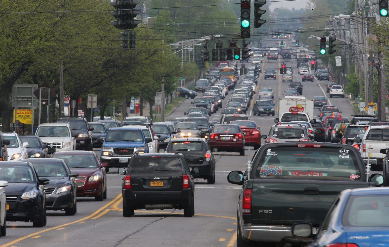 Some neighbors who oppose the project are worried about more traffic on Main Street in Williamsville. (News file photo)