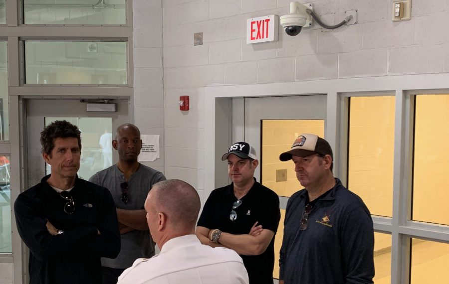 Members of the band Better Than Ezra met with inmates at the Niagara County Jail who are currently in the drug treatment pod. (Provided by Niagara County Sheriff's Office)