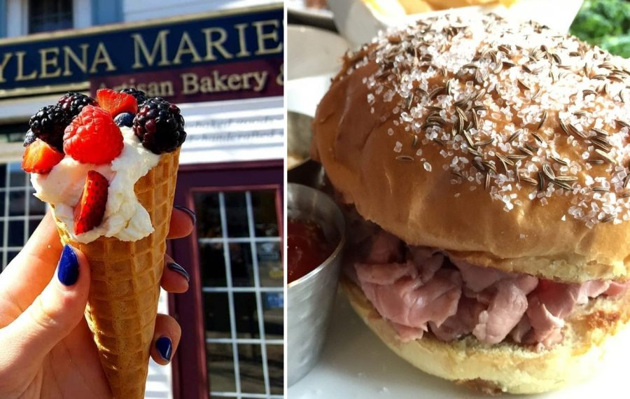 A fresh berries cannoli cone from Kaylena Marie's and Eckl's outstanding mini roast beef on weck are two great choices at the Taste of Orchard Park. (Photo courtesy of Kaylena Marie's; Andrew Galarneau/News file photo)