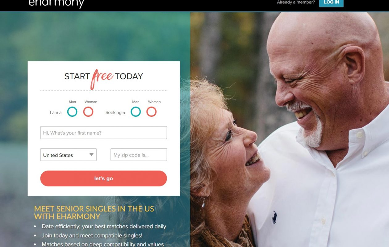 An Amherst retiree was scammed out of $30,000 by a man she began an online relationship with through eharmony.com, the dating website pictured here. The woman says she got a warning from the website about five weeks after she met him not to date him, but wasn't told why. (Screenshot)