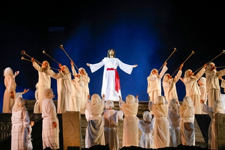 Since 1937, the Church of Jesus Christ of Latter-day Saints has hosted a live outdoor performance depicting scenes from the Book of Mormon and the Bible on Hill Cumorah, a sacred place where the church believes God revealed what is now the Book of Mormon to church founder Joseph Smith in 1827.