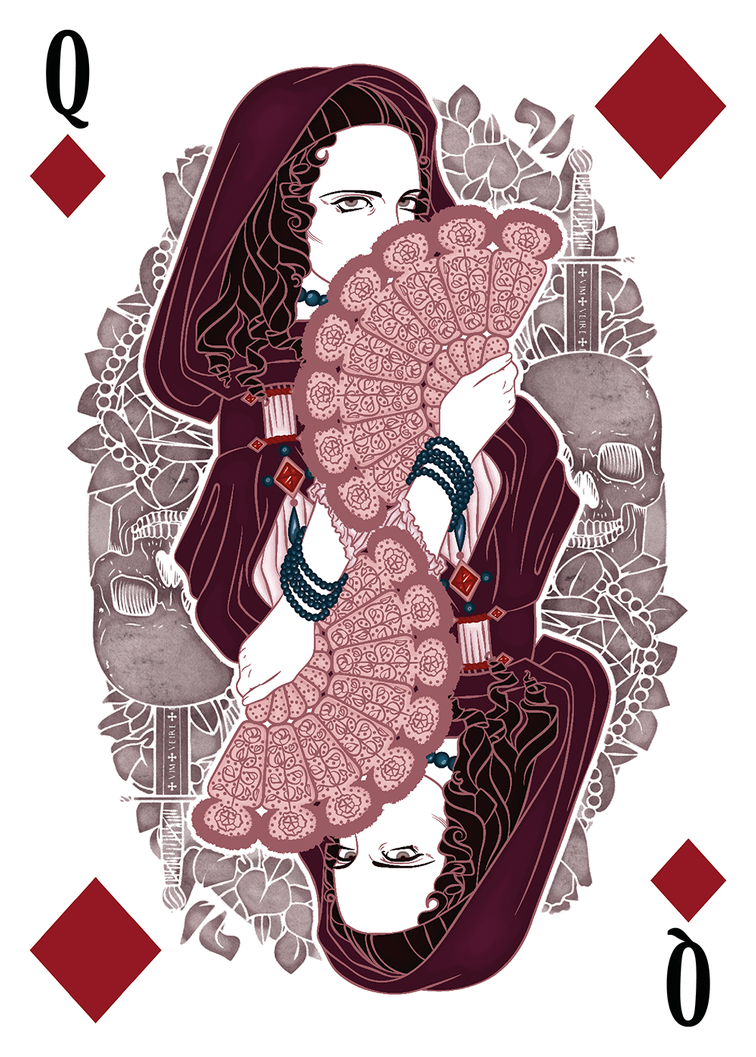 From Three Musketeers playing cards by Spanish artist karinyan.